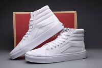 Vans Sk8 Hi True White Mens Womens Skate Shoes Sizes 4.5-13
