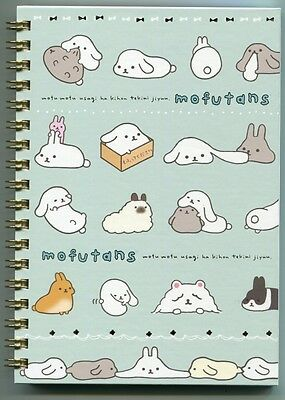 San-X Mofutans Rabbit Spiral Notebook Memo #2