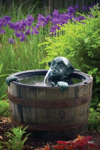 Aquascape Man In Barrel Pond Spitter-water garden-decorative-fountain-funny gift