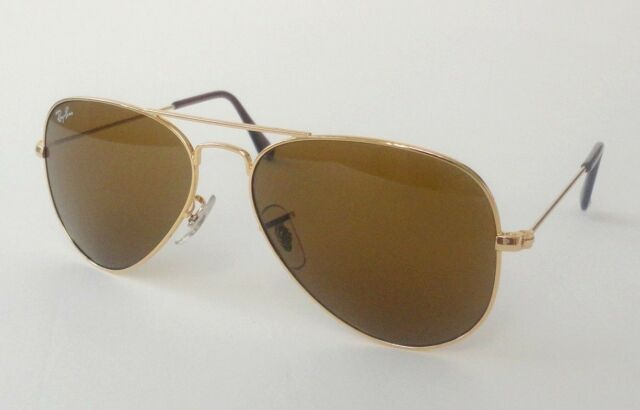 a77fb793f24 Ray Ban Aviator Classic RB 3025 001 33 Gold Sunglasses Crystal Brown 62mm