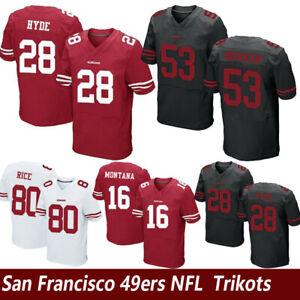 NFL-San-Francisco-49ers-Football-Trikot-Jersey-Sport-Shirt-HYDE-RICE-Rugby-Tops