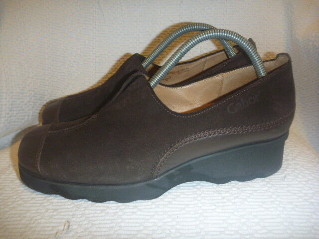 GABOR SPORT SIZE UK 7.5 BROWN LEATHER Schuhe SUEDE LADIES