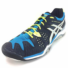 ASICS Mens GEL Resolution 6 Tennis Athletic Shoes Onyx Atomic Blue E500Y-9901