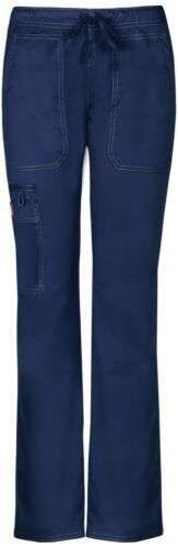 Details about  /Dickies Womens Scrubs Low Rise Straight Leg Drawstring Pant DK100 Colors /& Sizes