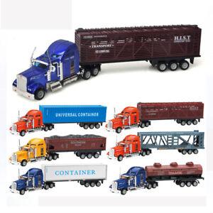 1-65-Alloy-American-Semi-Trailer-Truck-Metal-Diecast-Container-Truck-Tanker