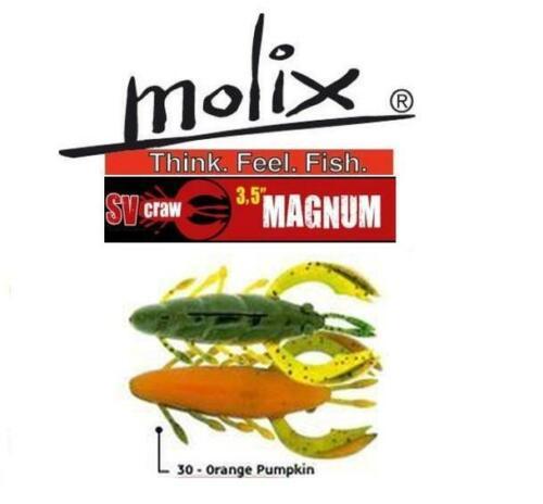 """Various Colors Molix SV Craw 3.5/"""" Magnum"""