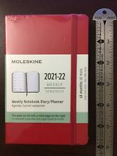 Moleskine Classic 18 Month 2021 2022 Weekly Planner Hard Cover Pocket Red
