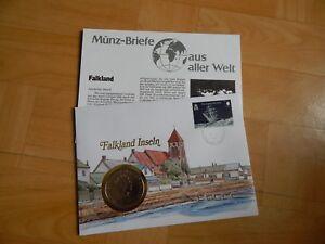 1 X Münz-briefe Aus Aller Welt Falkland Inseln 2 Ohne Himmel
