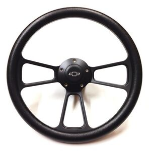 Corvette 14 Quot Black Billet Steering Wheel Inludes Adapter