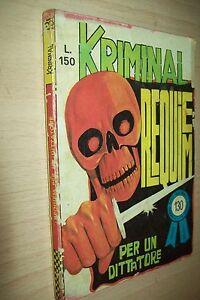 KRIMINAL-MAGNUS-amp-BUNKER-130-CORNO-REQUIEM-PER-UN-DITTATORE-DICEMBRE-1967-DI-RESA