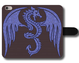 Amazing Blue Dragon Skin Fantasy Fire Cool Flying Wings Leather Phone Case Cover Ebay