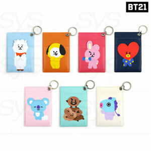 BTS-BT21-Official-Authentic-Goods-Key-Ring-Card-Holder-7Characters-By-Monopoly