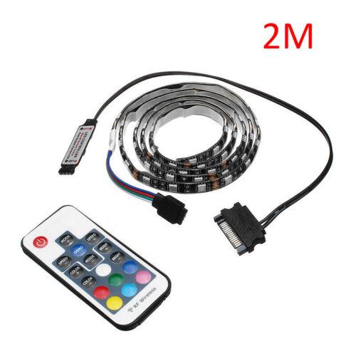 5050 5M RGB LED Strip Light for PC Computer Case 17key SATA remote Control tape