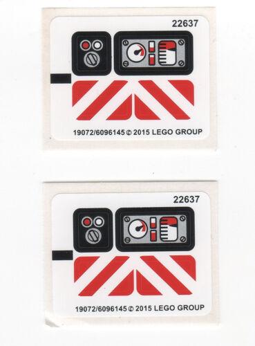 LEGO Technik 2 x original Aufkleber für Set 42032 Raupenlader  NEUWARE