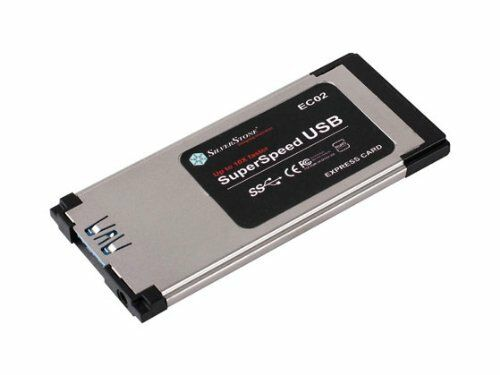 Silverstone Tek EC02 Slim ExpressCard//34 USB 3.0 ExpressCard Adapter