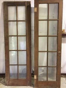 05908 Pair of Vintage French stunning scenic window  door net panels
