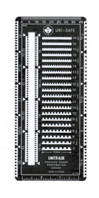 Metal Superior Stamp Perforation Perf Gauge with Slot Unitrade Uni-Safe