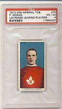PADDY MORAN 1910-11 10/11 C59 Imperial Tobacco Lacrosse #75 PSA 4 VG-EX HOF 4237