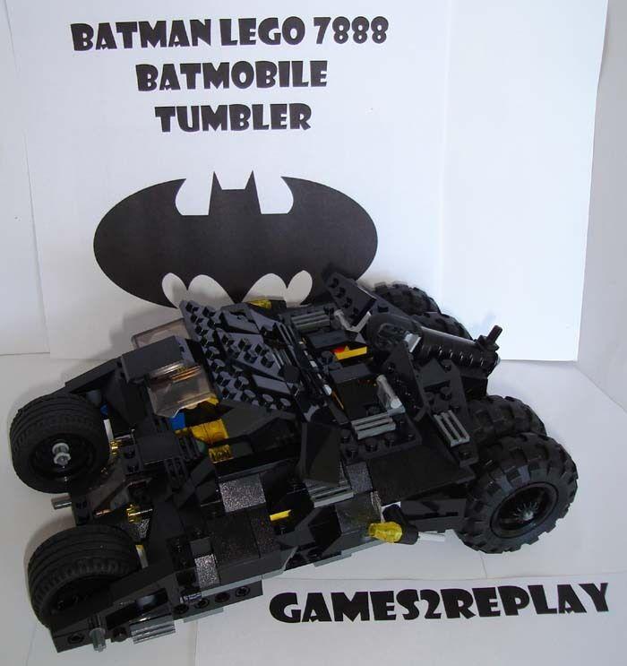 Genuine LEGO BATMAN 7888 Pipistrello Tumbler/BATMOBILE 100% originale completa in buonissima condizione