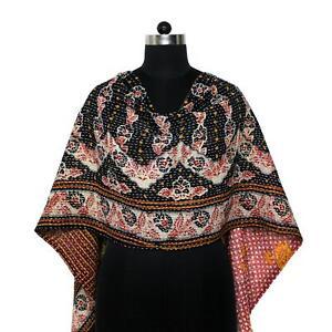 Vintage-Dupatta-Long-Scarf-Cotton-Saffron-Hand-Embroidered-Kantha-Wrap-Hijab