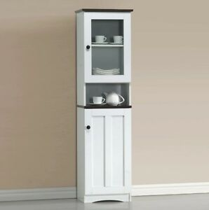 Image Is Loading China Cabinets And Hutches With Glass Door White