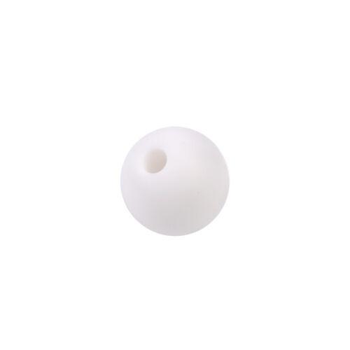 20pcs Baby Teething Necklace Nursing Teether BPA Free Silicone Round Beads Newly
