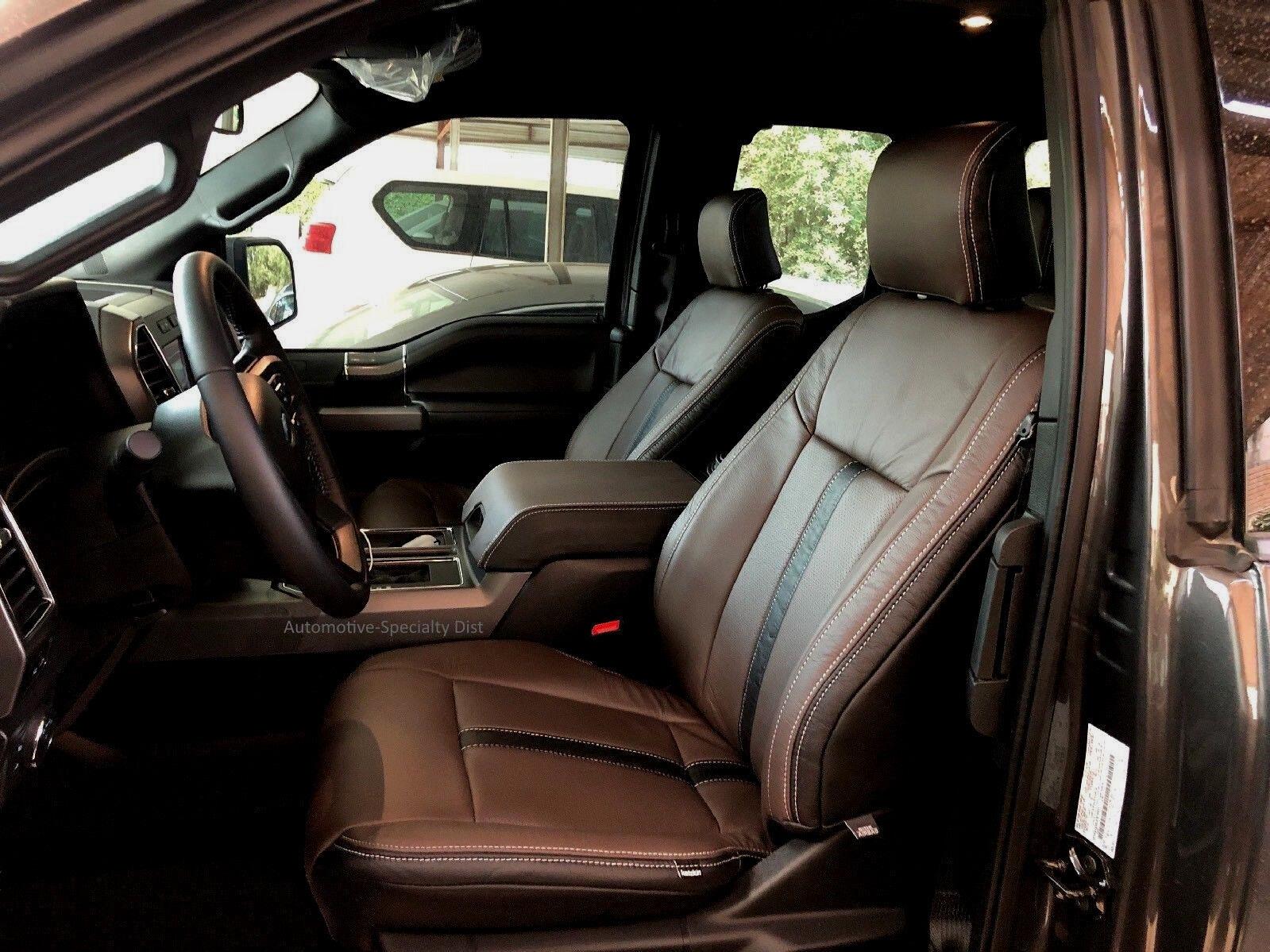 Katzkin Black & Java Leather Seat CVRS Fit 2015-2018 Ford F150 Super CAB XLT