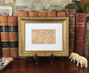 Details About Framed Original 1878 Antique Map New York State Ithaca Athens Rome Niagara Falls