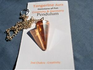 Pendulum-inTangerine-Aura-Quartz-User-Friendly-infused-Iron-24-KGold-Creativity