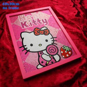824044db3 Diamond Painting Hello Kitty Kids Play Diy 5D Strawberry Embroidery ...
