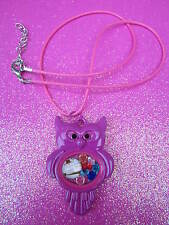 Living Memory Pink Owl Locket with 7 crystals and charm USA