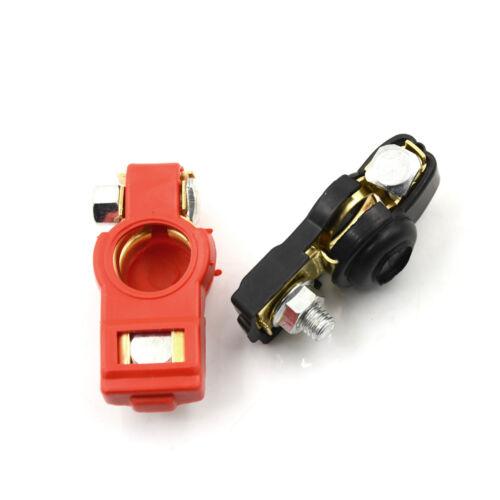 1 Pair Brass Positive Nagative Car Battery Terminal Clamp Clips Connector/_E9