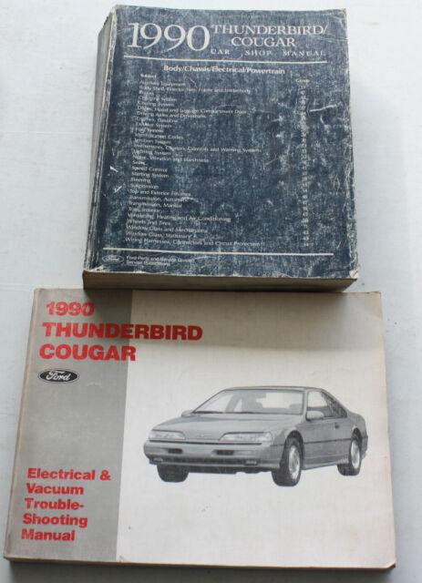 1990 Ford Service Manual & Wiring Diagram Thunderbird ...