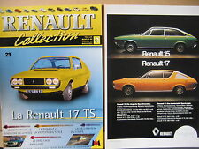 FASCICULE  23  RENAULT COLLECTION  R17 TS AVEC INSERT