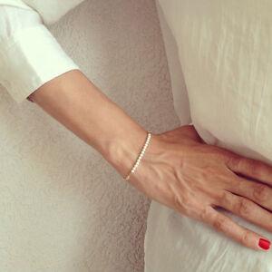 Nouveau-Mode-Femmes-Elegant-Perle-Chaine-Fabrication-a-la-Main-Bracelet-Bijoux