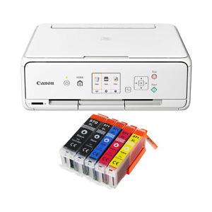 Set-Canon-Pixma-TS-5050-TS-5051-DRUCKER-SCANNER-KOPIERER-WLAN-5x-XL-TINTE