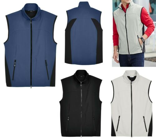 POCKETS SOFT SHELL BREATHABLE VEST MEN/'S WIND /& WATER RESISTANT S-5XL LINED