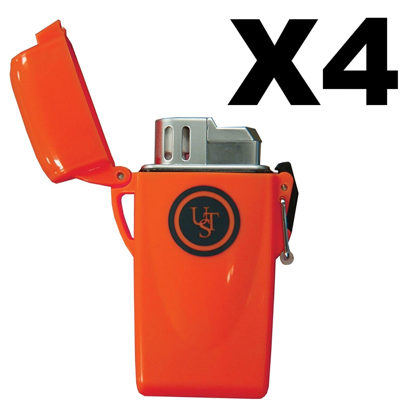 Ultimate Survival Technologies Stormproof flotante Encendedor Piezo Naranja (4 paquetes)