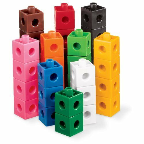 NEW ETA hand2mind Linking Pop Cubes (Set of 1000) FREE2DAYSHIP TAXFREE