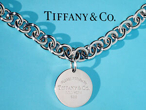 c180d0630 Tiffany & Co Return To Tiffany Sterling Silver Round Circle Tag ...