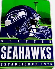 Seattle Seahawks blanket bedding throw 60x80 silk type FREE SHIPPING NFL NFC