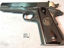 1911 GRIPS,DOUBLE DIAMONDS,BORDERS,U.S.ARMY SPECIAL METAL MEDALLIONS, SALE  #423