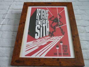 Framed 16x12 Original Star Wars Poster Revenge Of The Sith James Silvani 2012 Ebay