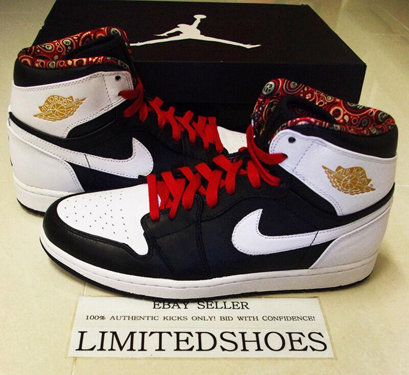 Nike air jordan - 1 - rttg las vegas 539542-035 uns gezüchtet, die weiße schwarze.