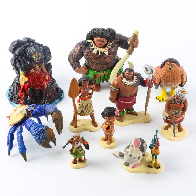 10pcs Moana Maui Waialik Heihei Pig Pua Pvc Action Figure Toy Kids Collection For Sale Online Ebay