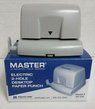 Martin Yale Ep210 Master Electric 2 Hole Desktop Paper Hole Punch 12 Sheet Cap