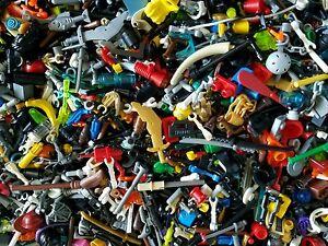 LEGO® Minifigure Bulk Accessories LOT x 25 Random Weapons Tools hats City parts