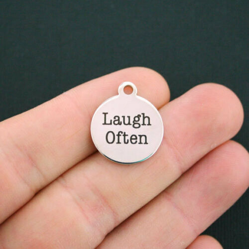 Exclusive Line BFS255 Quantity Options Laugh Often Stainless Steel Charm