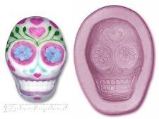 TESCHIO / GIORNO DI MORTI Skull Craft Sugarcraft SCULPEY silicone stampo in gomma