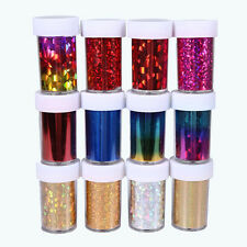 12 Bottles Nail Art Transfer Foil Stickers Tips Nail Deco Tool  Set 12Color Gift